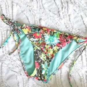 belk Swim - Island Soul Swim Floral Bikini Bottom - Tie Sides